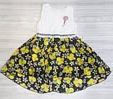 Плаття дитяче літнє з жовтими квіточками, фото 2