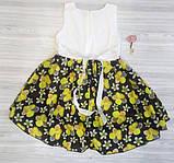 Плаття дитяче літнє з жовтими квіточками, фото 3