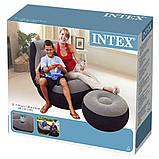 Надувное кресло с пуфиком Air Sofa Comfort - надувная мебель Intex, фото 9