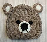 Шапка дитяча в'язана Teddy сіра, фото 2