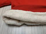 Кофта детская утепленная с единорогом красная, фото 2