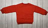 Кофта детская утепленная с единорогом красная, фото 3