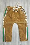 Штани вельветові для хлопчиків бежеві Supreme, фото 3