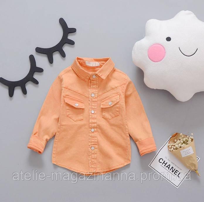 Рубашка оранж 2995