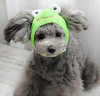 Шапка для собак «Жабка», розмір М, фото 1