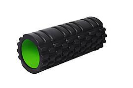 Массажный ролик PowerPlay 4025 Черно-зеленый