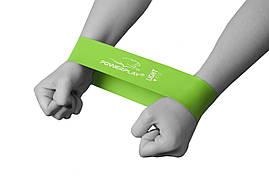 Фитнес-резинка PowerPlay 4114 Light зеленая (500*50*0.8мм)