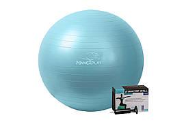 М'яч для фітнесу PowerPlay 4001 65см М'ятний + насос