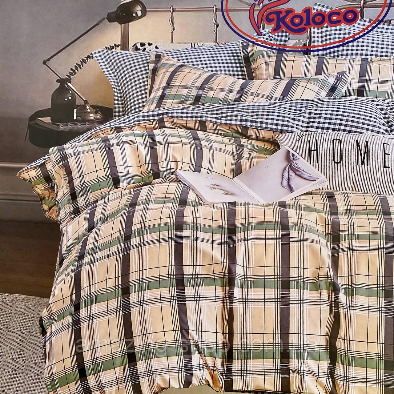 Качественный комплект постельного белья с фланели Размер двуспальный 180*220