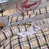 Качественный комплект постельного белья с фланели Размер двуспальный 180*220, фото 2