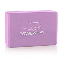 Блок для йоги PowerPlay 4006 Yoga Brick Фиолетовый