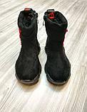 Чобітки дитячі Shoesyga чорні, фото 2