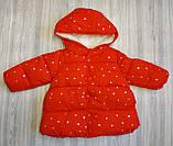 Куртка деми для девочек со звездочками красная, фото 4