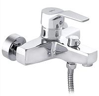 Смеситель однорычажный для ванны ZERIX SEO 183 литой хромированный кран в ванную на стену Чехия