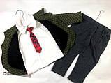 Стильний костюм-трійка хлопчикові 3907, фото 2