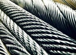 Канат из нержавеющей стали  ДИН 3053 (ГОСТ 3063-72) 1,00 мм,  Конструкция 1х19
