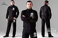 Мужской трикотажный спортивный костюм черный
