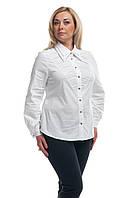 Женская рубашка большого размера Белая