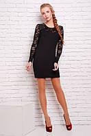 Платье облегающего силуэта цвет черный Вива