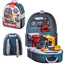 Дитячий ігровий Набір інструментів у валізі - рюкзаку.