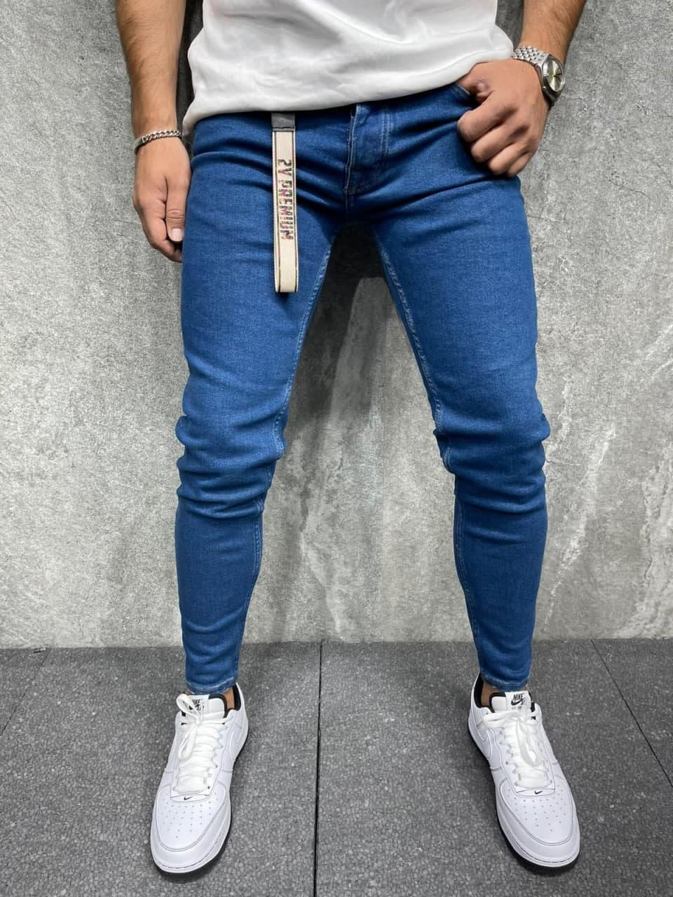 Джинси - сині джинси Чоловічі / чоловічі джинси сині прямі класичні новинка