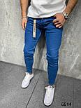 Джинси - сині джинси Чоловічі / чоловічі джинси сині прямі класичні новинка, фото 2