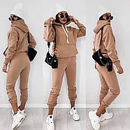 Женский теплый костюм на флисе (кофта и штаны), фото 3