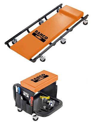 Лежаки автослесаря подкатной и стул механика, Bahco, BLE304, фото 2