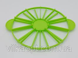 Кондитерский делитель для торта на порции 10/12 двусторонний пластиковый D 25 cm