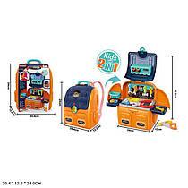 Дитячий ігровий Набір інструментів у валізі - рюкзаку, дитяча майстерня - стіл верстак.
