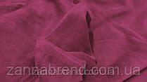Двухстороння ткань велюр (плюш) малиновый цвет