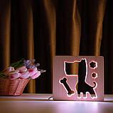 """Светильник ночник детский ArtEco Light из дерева LED """"Пес и косточка"""" с пультом и регулировкой цвета, RGB, фото 6"""