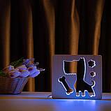 """Светильник ночник детский ArtEco Light из дерева LED """"Пес и косточка"""" с пультом и регулировкой цвета, RGB, фото 9"""