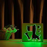 """Светильник ночник детский ArtEco Light из дерева LED """"Пес и косточка"""" с пультом и регулировкой цвета, RGB, фото 10"""