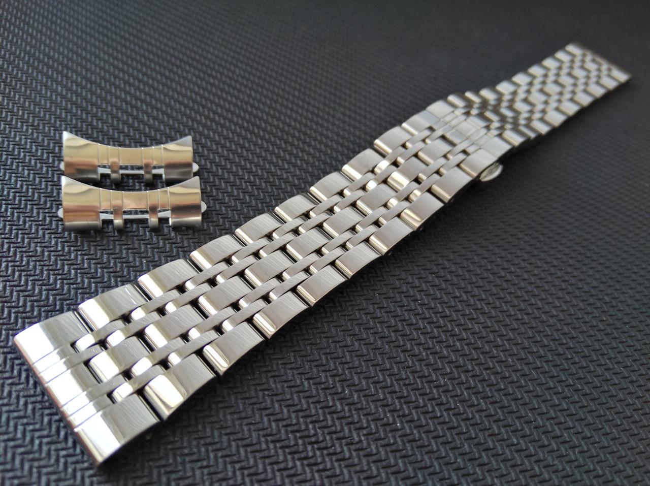 Браслет для годинника з нержавіючої сталі 316L, литий, глянець. Пряме /заокруглене закінчення. 20 мм