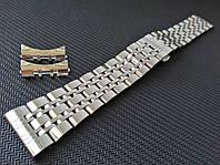Браслет для годинника з нержавіючої сталі 316L, литий, глянець. Пряме /заокруглене закінчення. 20 мм, фото 1