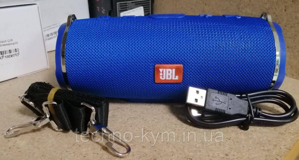 Bluetooth Колонка JBL Charge Mini 3+ ремень Blue (Реплика) Гарантия 3 месяца