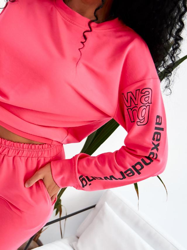 Женский спортивный костюм с кофтой свободного кроя