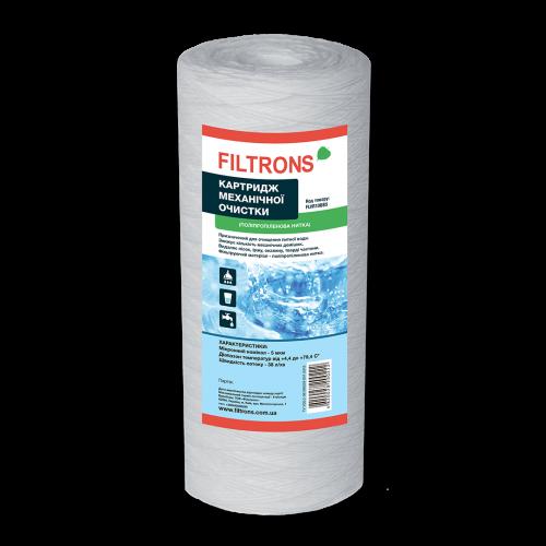 Картридж з поліпропіленової нитки Filtrons Big Blue 10