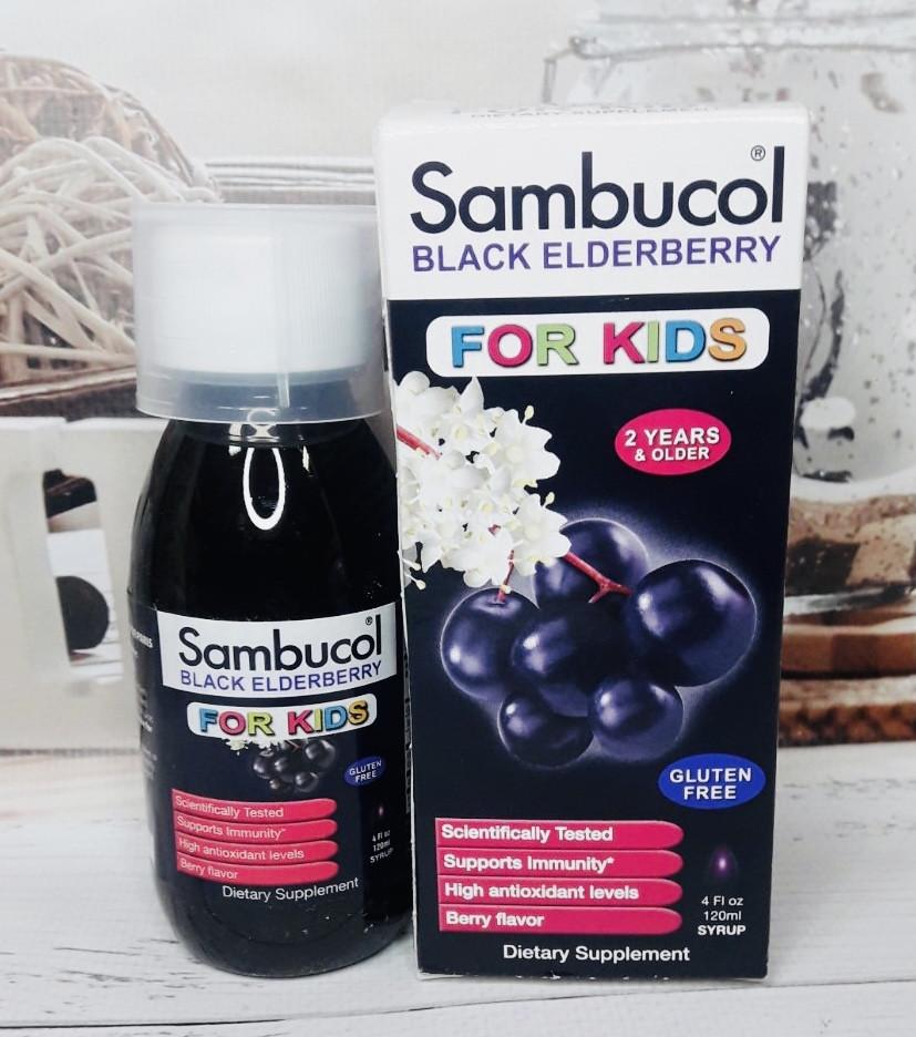 Дитячий сироп для иммуннитета Sambucol на бузини чорної