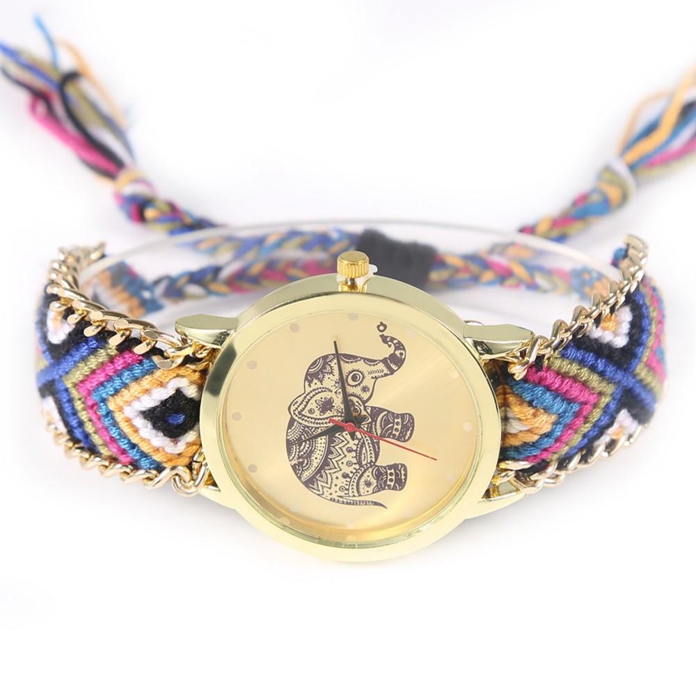 Жіночі кварцові наручні годинники в етнічному стилі Happy Elephant