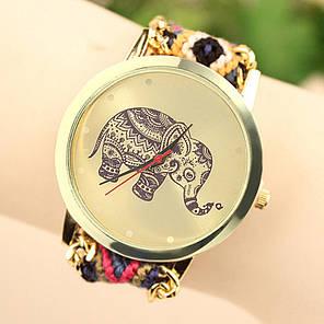 Жіночі кварцові наручні годинники в етнічному стилі Happy Elephant, фото 2