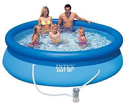 Сімейний надувний басейн Intex Easy Set 28122 (56922) (305*76 см) з фільтром-насосом