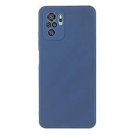 Силіконовий бампер для Xiaomi Redmi Note 10S, Soft Case, Темно-синій