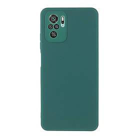 Силіконовий бампер для Xiaomi Redmi Note 10S, Soft Case, Темно-зелений