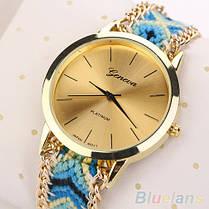 Женские кварцевые наручные часы в этническом стиле Jeneve Etnisch Marineblau, фото 3