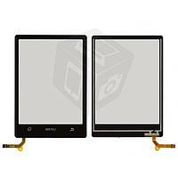 Touchscreen (сенсорный экран) для ZTE N606, оригинал (черный)