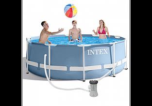 Каркасний дитячий басейн Intex 26706 NP, 305*99 см зі сходами і насосом