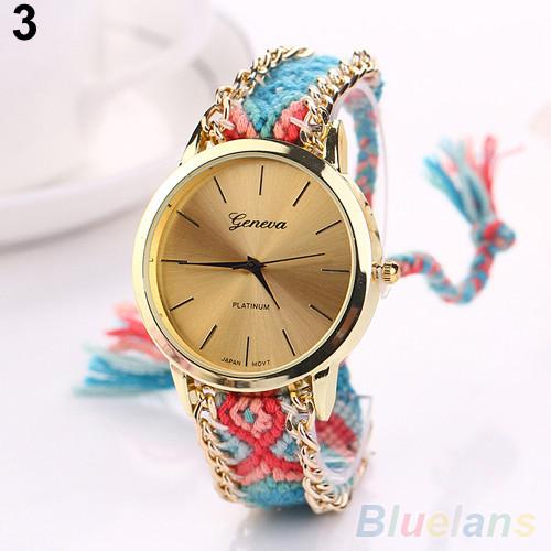 Женские наручные часы в этническом стиле Jeneva Etnisch Blau