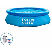 Наливний басейн Intex 28118 в комплекті з фільтр-насосом (розмір 305х61 см) (обсяг 3077л), колір синій